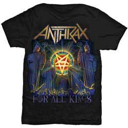 Anthrax For All Kings Cover Mens Black - T-shirt i gruppen ÖVRIGT / Merch T-shirts hos Bengans Skivbutik AB (2616064)