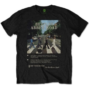 The beatles T shirt Abbey Road 8 Track Mens Black