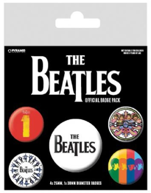 The beatles - The Beatles (Black) Badge Pack Pin i gruppen Kampanjer / BlackFriday2020 hos Bengans Skivbutik AB (2988064)