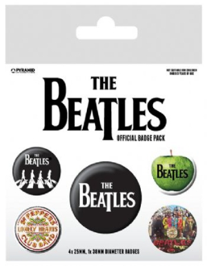 The beatles - The Beatles (White) Badge Pack Pin i gruppen ÖVRIGT / Merch Badges hos Bengans Skivbutik AB (2988072)