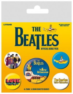 The beatles - The Beatles (Yellow Submarine) Badge Pack pin i gruppen ÖVRIGT / Merch Badges hos Bengans Skivbutik AB (2988074)