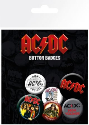AC/DC - AC/DC Badge Pack Pin Mix i gruppen ÖVRIGT / Merch Badges hos Bengans Skivbutik AB (2989329)