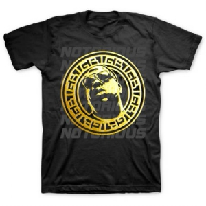 Biggie Smalls - T-shirt Gold Circle i gruppen ÖVRIGT / Merch T-shirts hos Bengans Skivbutik AB (3366179r)