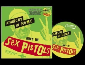 Sex Pistols - Anarchy In Rome With Turntable Mat i gruppen VINYL / Rock hos Bengans Skivbutik AB (3493678)