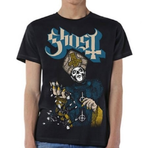 Ghost - GHOST MEN'S TEE: PAPA OF THE WORLD i gruppen MERCHANDISE / RockOffDinCDTshirts hos Bengans Skivbutik AB (3595964)
