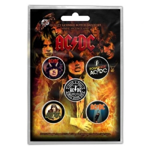 AC/DC - AC/DC BUTTON BADGE PACK: HIGHWAY TO HELL i gruppen Minishops / AC/DC hos Bengans Skivbutik AB (3640988)
