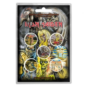 Iron Maiden - IRON MAIDEN BUTTON BADGE PACK: EARLY ALBUMS i gruppen Julspecial19 hos Bengans Skivbutik AB (3640993)