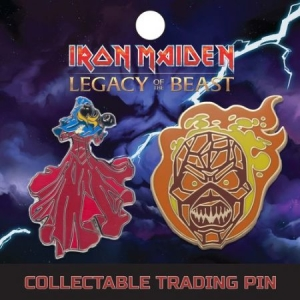 Iron Maiden - Lapel Pin Set 3: Clairvoyant And Wicker Man i gruppen ÖVRIGT / Merchandise hos Bengans Skivbutik AB (3655490)