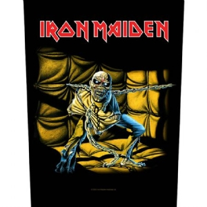 Iron Maiden - Piece Of Mind - Back Patch i gruppen Kampanjer / BlackFriday2020 hos Bengans Skivbutik AB (3655665)