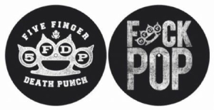 Five Finger Death Punch - Knuckle / Fuck Pop slipmats i gruppen ÖVRIGT / Merch Slipmats hos Bengans Skivbutik AB (3737782)