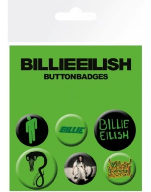 Billie Eilish - Mix Badge Pack i gruppen ÖVRIGT / Merch Blandat hos Bengans Skivbutik AB (3778679)