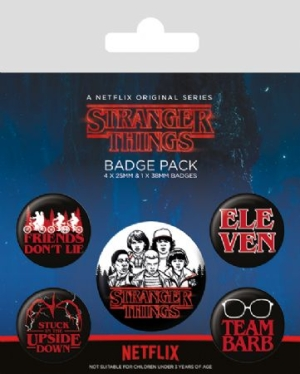 Stranger Things - Badge Pack i gruppen ÖVRIGT / Merch Badges hos Bengans Skivbutik AB (3778766)