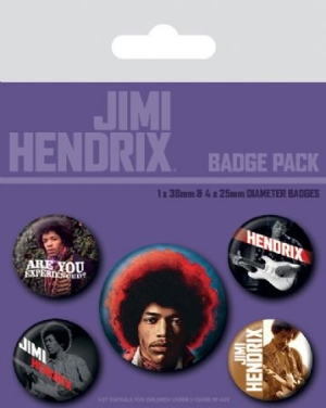 Jimi Hendrix - Badge Pack i gruppen ÖVRIGT / Merch Badges hos Bengans Skivbutik AB (3778770)
