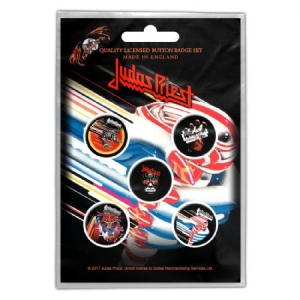 Judas Priest - Button Badge Pack: Turbo i gruppen ÖVRIGT / Merch Badges hos Bengans Skivbutik AB (3779653)
