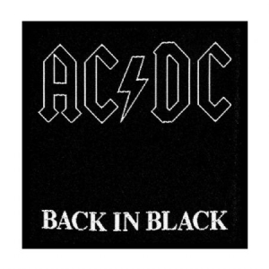 AC/DC - Standard Patch: Back in Black (Loose) i gruppen ÖVRIGT / Merch Blandat hos Bengans Skivbutik AB (3790716)