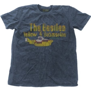 Beatles - T-shirt - Yellow Submarine Nothing Is Real (Men Denim Blue, Snow Wash) i gruppen ÖVRIGT / Merch T-shirts hos Bengans Skivbutik AB (3828325)