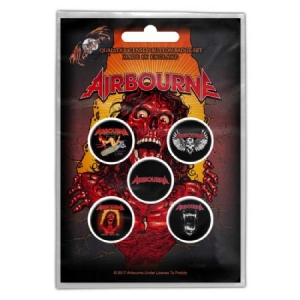 Airbourne - BUTTON BADGE PACK: BREAKIN' OUTTA HELL (RETAIL PACK) i gruppen Kampanjer / BlackFriday2020 hos Bengans Skivbutik AB (3882361)