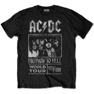 AC/DC - UNISEX TEE: HIGHWAY TO HELL WORLD TOUR 1979/1980 i gruppen ÖVRIGT / Merch T-shirts / Classic Tours hos Bengans Skivbutik AB (3907209r)