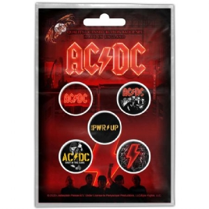 AC/DC - Ac/Dc Button Badge PAck . Pwr-up i gruppen ÖVRIGT / Merch Badges hos Bengans Skivbutik AB (4045113)