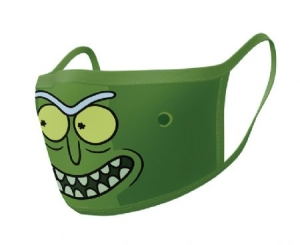 Rick and Morty - Rick and Morty (Pickle Rick) Face mask (2-pack) i gruppen ÖVRIGT / Merch Nyheter hos Bengans Skivbutik AB (4063969)