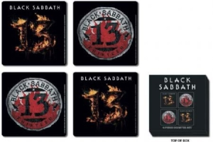 Black Sabbath - 13 4 pieces cork coaster set i gruppen ÖVRIGT / Merch Glasunderlägg hos Bengans Skivbutik AB (917456)