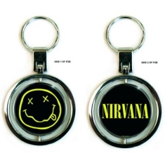 Nirvana - Smiley spinner key chain