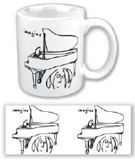 John Lennon - John Lennon Boxed Mug: Imagine (Piano Drawing)