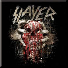 Slayer - Skull clench fridge magnet
