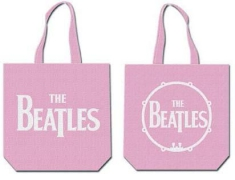 The beatles - Drop T Pink Cotton Tote Bag