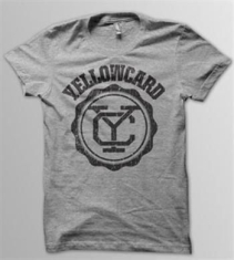 Yellowcard - T/S Black Logo Grey (Ym)