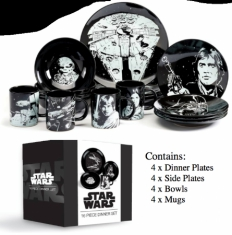 STAR WARS - 16 Piece Glazed Stoneware