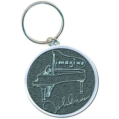 John Lennon - Imagine silver keychain