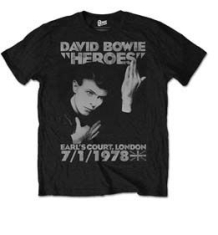 David Bowie - Heroes Court Mens Black TS