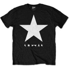 David Bowie - T-shirt Blackstar White Star on Black Mens TS