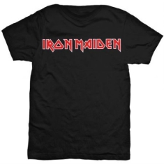 Iron Maiden - Logo Men's Black T Shirt