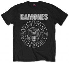 Ramones - Seal Mens Black T Shirt