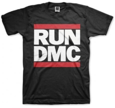 Run DMC Logo Black Mens T Shirt: Small - T-shirt S