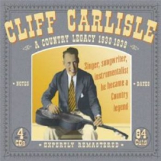 Carlisle Cliff - A Country Legacy 1930-1939
