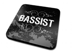 Single Coaster Drink Mat - Bassist Single Coaster
