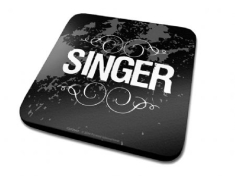 Single Coaster Drink Mat - Singer Single Coaster