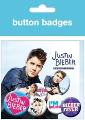 Justin Bieber - Button Badges (6st)