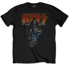 Kiss - Men's Tee: Neon Band