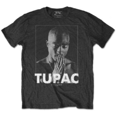 Tupac - Praying Men Charc T-shirt