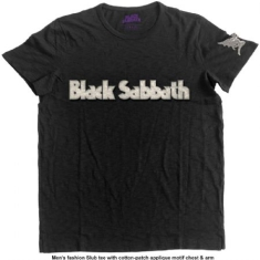 Black Sabbath - T-shirt Logo & Daemon (Applique Motifs) (L)