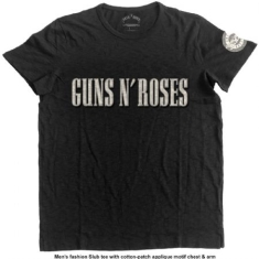 Guns N' Roses Logo & Bullet Circle (Applique Motifs) T-shirt S