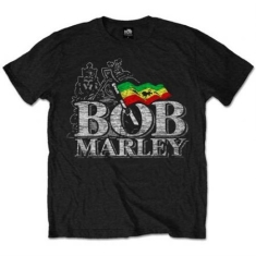 Bob Marley - BOB MARLEY MEN'S TEE: DISTRESSED LOGO