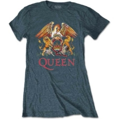Queen - Queen Ladies Tee: Classic Crest
