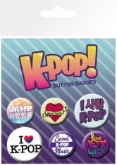 K-POP - K-Pop (5 Button Badges)