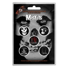 Misfits - MISFITS BUTTON BADGE PACK: SKULL