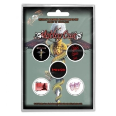 Motley Crue - MOTLEY CRUE BUTTON BADGE PACK: DR FEELGOOD
